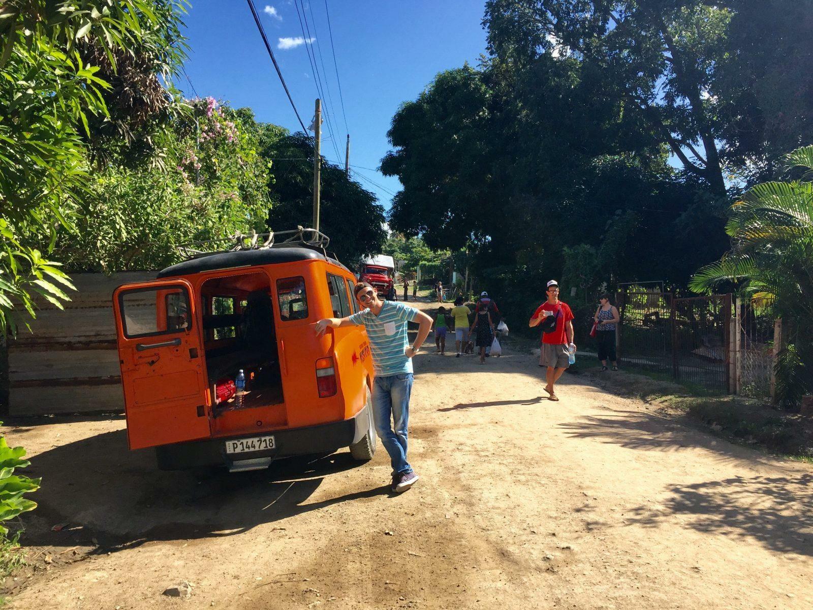 Van through Cuba from Santiago de Cuba to Guantanamo to Baracoa.