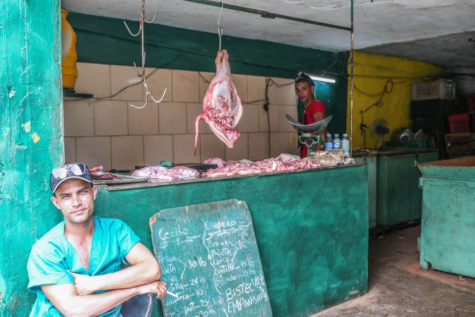 Buying Meat in Cuba